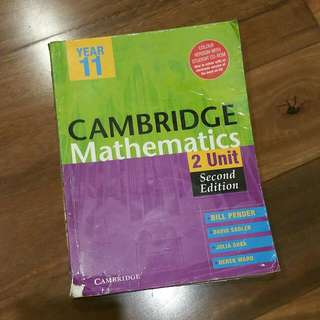 Cambridge Mathematics 2 Unit (2nd Edition) Preliminary Course Textbook