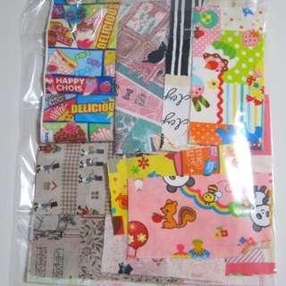 Grab Bag Fabric Scraps - Japanese And American Fabrics