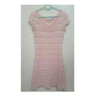 Pink Lace Dress From Cache Cache