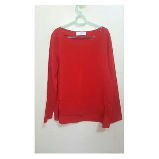 Red Long Sleeve Blouse From Bayo