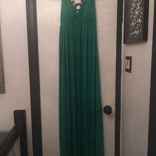 Long Green Maxi Dress