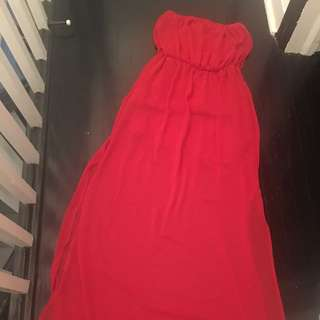 Red Tube Too Maxi Dress