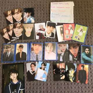 Photocards From Got7, Exo, Apink And More