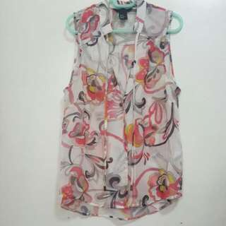 Sheer Floral Top From H&M