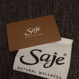 Saje Giftcard $35 for $43