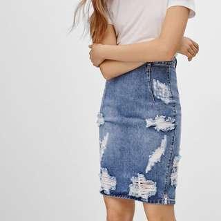 Aritzia Denim Skirt