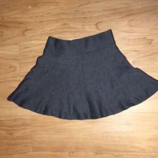 Talula A-line Mini Skirt In Blue Grey