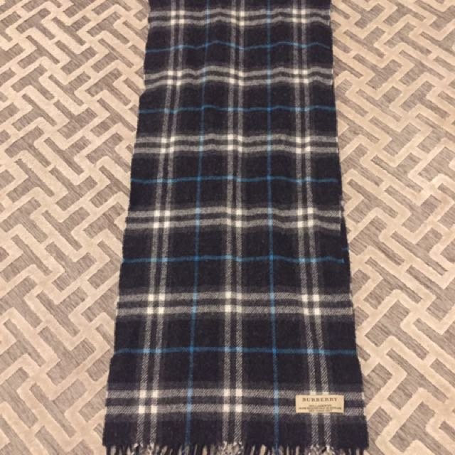 100% Auth Burberry Lambswool Scarf