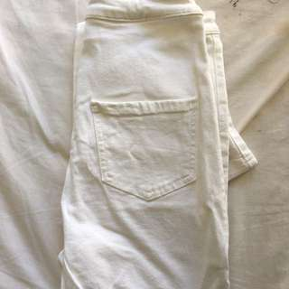 Missguided High waisted White Jeans