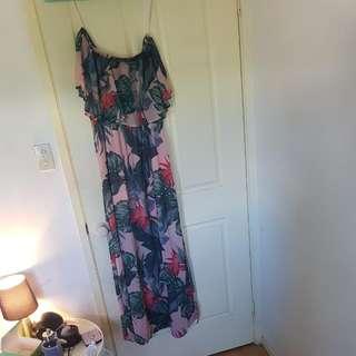 Maxi Dress Off The Shoulder/sleeveless Size 14