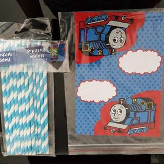Thomas & Friends Straw And Food Card/ Display Card