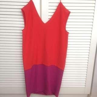 NEW MNG MANGO Colourblock Dress Size M