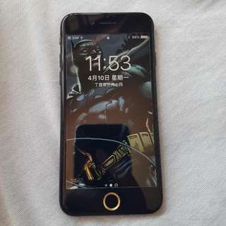 包膜機無傷 iphone7霧黑色 128G 4.7吋盒裝