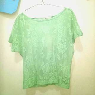 Green Lace Tee