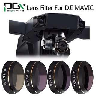 4pcs PGYTECH Filters ND G-ND4 8 16 32 Lens Filter for Dji Mavic Pro Drone