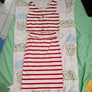 Dress (Crop Top & Skirt)