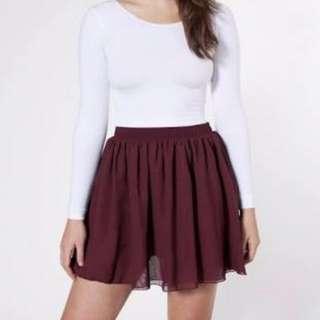 Maroon Skater/Circle Skirt