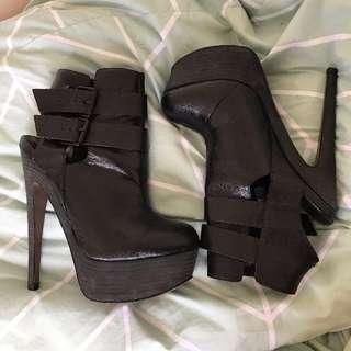 Topshop Heels Boots Size 8