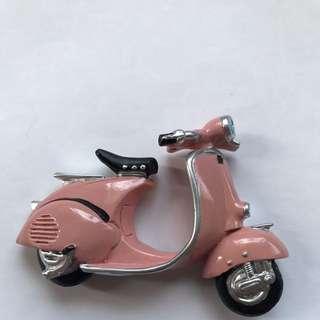 Light Pink New Motorcycle Scooter 3D Fridge/Ref Magnet Vespa