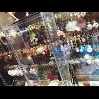 muji透明防塵項鍊耳環首飾架飾品盒 收納盒