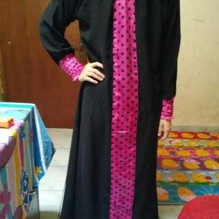 abaya saudi polka