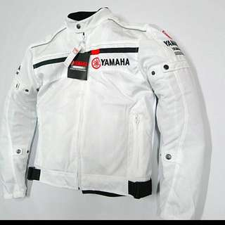 Yamaha Racing White Mesh Biker Jacket
