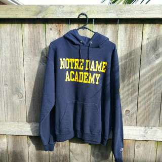 Vintage Champion Notredame Academy Hoodie