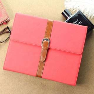 Leather Booklet iPad Case