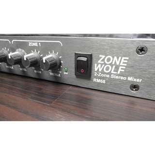 Rolls Zonewolf RM68 2 zone stereo mixer