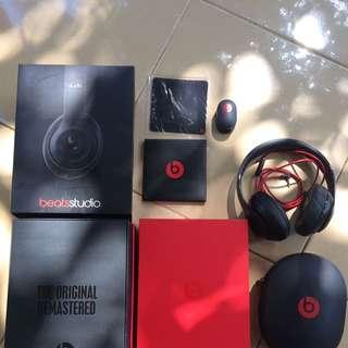 Beats Studio By Dr.Dre Black Matte ORI (inop)