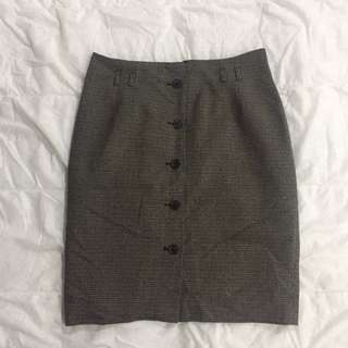 H&M Buttondown Pencil Skirt