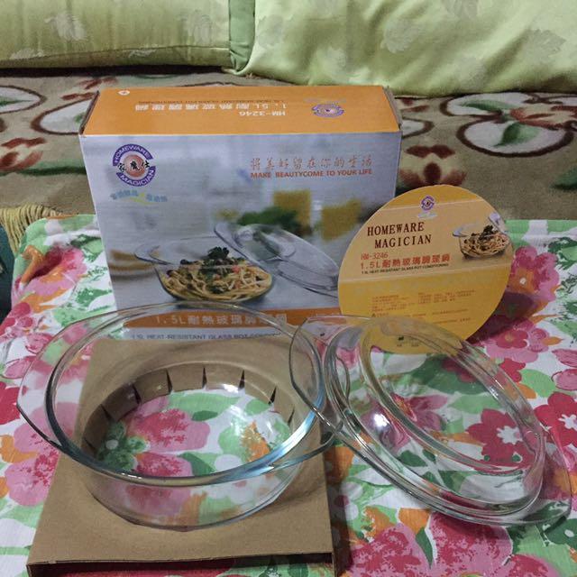 1.5L耐熱玻璃調理鍋(全新)