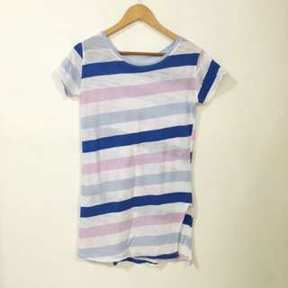 Stripes Long Top With Slit