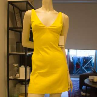 New Yellow Dress with Top Size XS