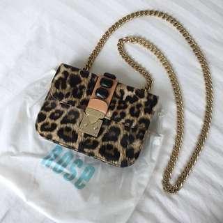 Nose Leopard Sling Bag