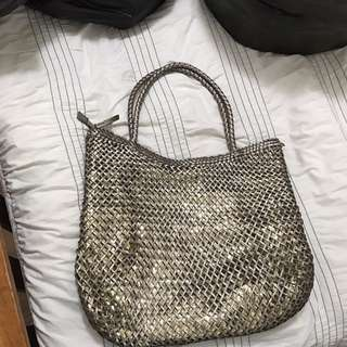 LARGE GOLD TOTE