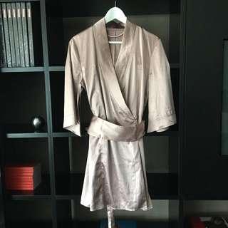 Elle Macpherson Silk Kimono With Obi Belt