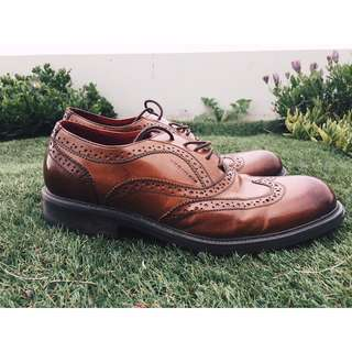 Obermain Brown Brogue Men's Dress Shoe