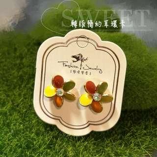 〘一張1元〙韓版簡約燙銀精緻耳環卡 耳飾吊牌 生財工具 小資創業