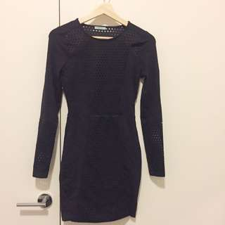 Kookai Size 1 Black Dress With Cut Out Detail