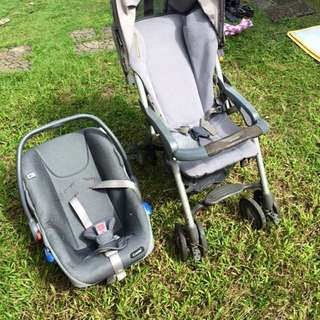 Combi Stroller And Baby Carrier/Car seat