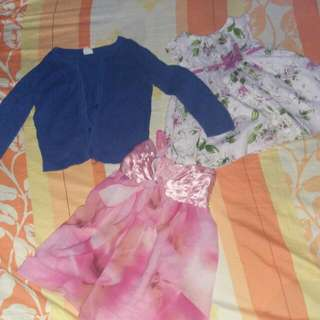 Dress 6-9months First Impression, H&M Cardigan For 2y. O Plus Additional Dress