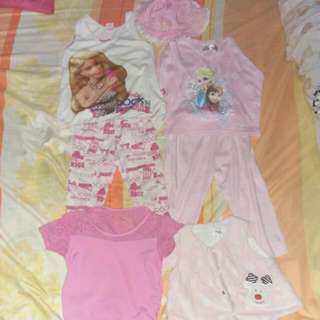 Pairs Outfit Barbie And Frozen Characters With Additional Shirt And a Hat