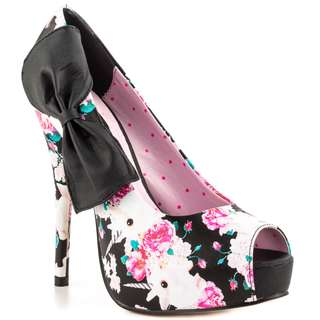 💋 BRAND NEW, RARE** Cute IRON FIST Buns N Roses Peep Toe Heels US 6/UK 4/EU 37