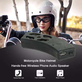 Motorcycle Bike Helmet Hand Free Wireless Bluetooth Phone Stereo Audio Speaker