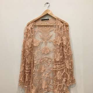 Beautiful Blush Nude Kimono
