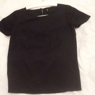 MISS SHOP Essentials Women's Black Sleeve Top