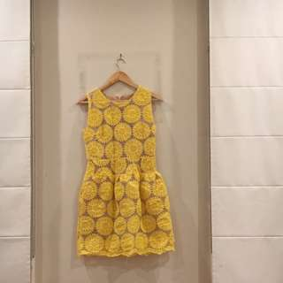 Yellow sunflower dress