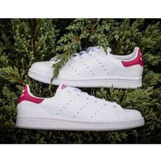 Adidas 經典小白鞋 Stan Smith 桃紅尾