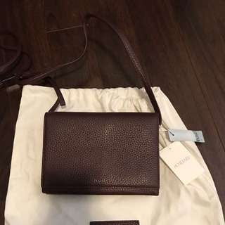 Aritzia Auxiliary Pebbled leather Cross Body Bag